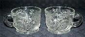 U.S. Glass EAPG Slewed Horseshoe Punch Cups