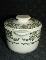 Royal China Green Transferware Floral Scroll Sugar Bowl