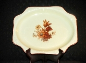 Crooksville Pantry Bak-In Ware Autumn Floral Embossed Platter