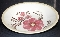 Royal China Jeannette Red Flower Salad Pasta Serving Bowl
