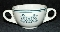 Homer Laughlin Best China Harry M Stevens Handled Soup Bowl