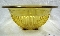Federal Depression Glass Large Amber Golden Glo Mixing Bowl