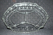 Sterling Crystal Punty Dart & Fan Classique Divided Relish Tray