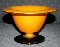 Westmoreland Glass 1920's Orange & Black Cased Compote