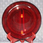 Arcoroc Classique Ruby Red Glass Dinner Plates