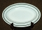 Corning Decor White Green Stripe Restaurant Ware Platter