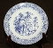 Royal China Blue Windmill Ironstone Salad Dessert Plates