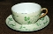 Antique Erin Carrigaline Shamrock Luster Cup Saucer Sets