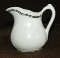 Sterling China Vitrified Green Stripe  Creamer Syrup Pitcher