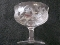 Central Glass Thistle Etch Champagne Goblets