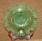 Central Glass Green Depression Balda Etch Cheese & Cracker Tray