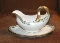 Antique Bernardaud Limoges Heavily Gilded Greek Key Gravy Boat