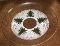 Culver Glass Christmas Tree Cross Stitch Large Serving Tray