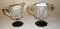 Westmoreland English Hobnail Black Foot Cream & Sugar Set