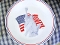 Corelle Lady Liberty Patriotic  American Flag Dinner Plate