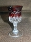Ripley US Glass EAPG Ruby Stained Arched Oval Father Goblets