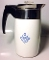 Corning Blue Cornflower Stove Top Percolator