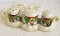 Trico Nagoya Japan Art Deco Lusterware Condiment Set