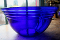 Pyrex Cobalt Blue Glass Ringed Salad Bowl