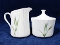 Corning Shadow Iris Sugar Bowl Creamer Set