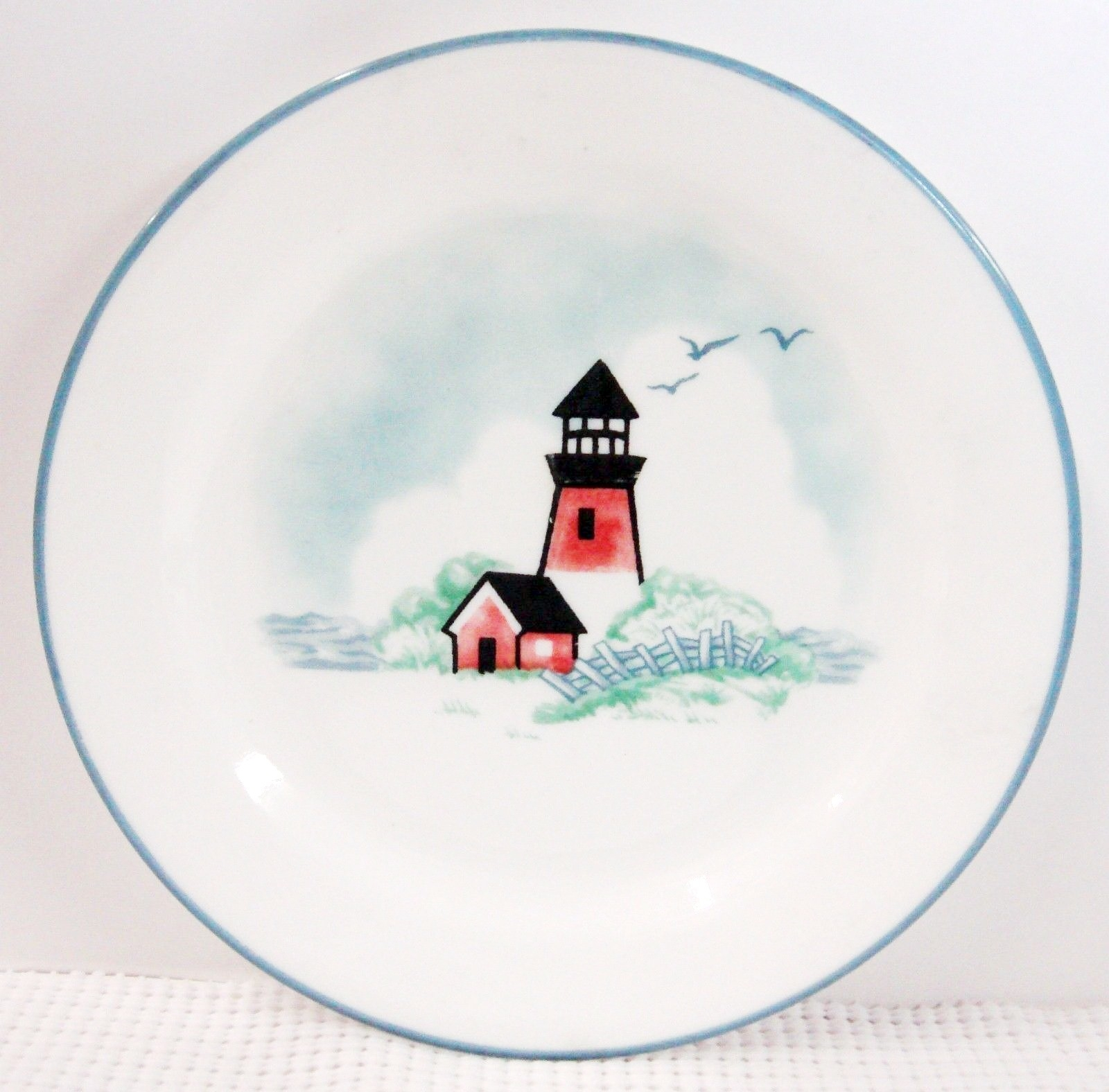 & Corning Corelle Outer Banks Lighthouse Salad Dessert Plates