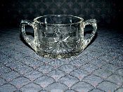 1930's Imperial Glass Star of David Sugar Bowl