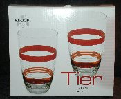 Block Crystal Tier Red Hiball Glass Set