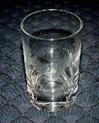 Vintage Wheel Cut Wheat Heavy Base Juice Glasses