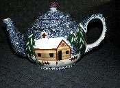 Living Quarters Holiday Mountain Lodge Teapot