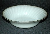 Anchor Hocking Golden Shell White Swirl Vegetable Bowls