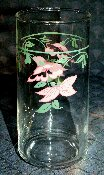 Cera Glass Pink Erythronium Fawn Lily Tall Tumblers