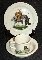 Lenox Heirloom China Bears 2 Piece Set Plate & Bowl