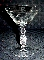 Glastonbury Lotus Cut & Polished Floral Champagne Goblets