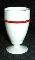 Westmoreland Red Beaded Edge Milk Glass Footed Tumblers