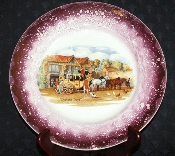 Grays Pottery Dicken's Days Display Plate Dual Backstamp