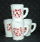 McKee Tom & Jerry Four Milk Glass Mugs