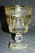 Colony Glass Rare YELLOW Flashed Parklane Water Goblets