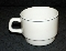 Arcoroc Gray Stripe Restaurant Ware Tea Cups