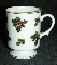 Lefton Hand Painted Holly & Berries Gold Trimmed Footed Mugs