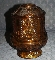 HOMCO Amber Glass Fairy Lamp Candle Holder