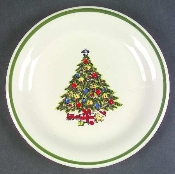 Mt Clemens Pottery Christmas Tree Dinner Plates