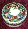 Mikasa Christmas Bouquet Covered Round Box Candy Jar