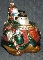 Fitz & Floyd Blown Glass Snowman with Boy Large Ornament