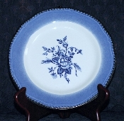 Wood & Sons Enoch Blue Colonial Rose Salad Plates