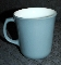 Corning-Pyrex Fired On Steel Blue D Handle Mugs