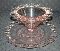 Lancaster Pink Depression Glass Lace Edge Mayo Bowl & Plate