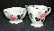 Clarence England Bone China Victorian Rose Creamer & Sugar Bowl