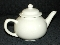 Homer Laughlin Colorations White Colonial Teapot
