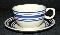 Ralph Lauren Farmstead Ticking-Blue Cup & Saucer Sets