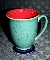 Denby Langley Harlequin Red Green Footed Mugs